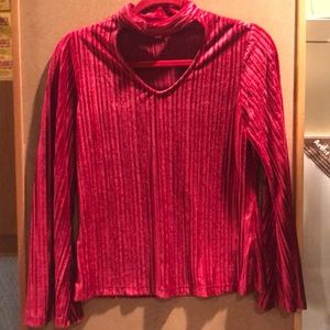 Red holiday blouse